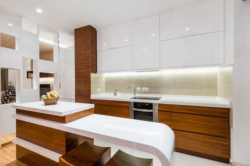 timber grain kitchen