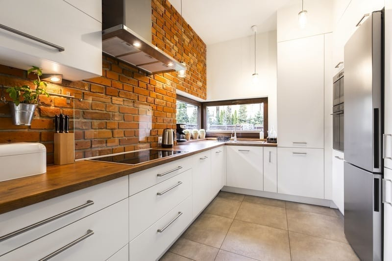 kitchen with handles
